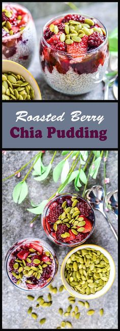 Roasted Berry Chia Pudding