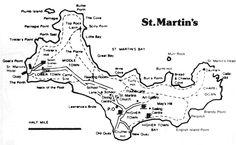 stmartinsmap.gif (800×492) Coving, Camping Car, Diagram, Map, Island, Block Island, Maps, Peta, Islands