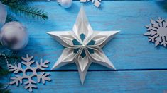 Snowflake paper Christmas crafts origami – Famous Last Words Snowflake Origami, Origami Star Box, Christmas Origami, Christmas Crafts, Christmas Christmas, Easter Crafts, How To Make Snowflakes, Paper Snowflakes, Paper Stars