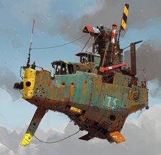 Steampunk artwork by Ian McQue found on twitter.com. #steampunk #steampunkart http://www.pinterest.com/TheHitman14/artwork-steampunked/