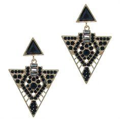 Geometric black crystal earrings- Buy yours here for £19.75 >> http://www.pearlandbutler.co.uk/730-p/geometric-black-crystal-earrings.aspx