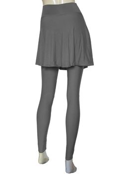 732bc66f81 Gray skirted leggings. Yoga tights. Plus size urban outfit  Pants