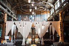 Sodo Park venue in Seattle, WA for vintage cruise-themed open house for wedding customers