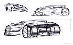 Bugatti sketches on Behance