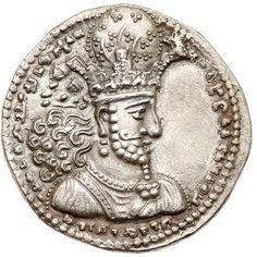 شاپور دوم 309 تا 379 م Antique Coins, Old Coins, Seal Of Solomon, Sassanid, Prince Frederick, Ancient Persia, Iranian Art, Moorish, Bronze Age