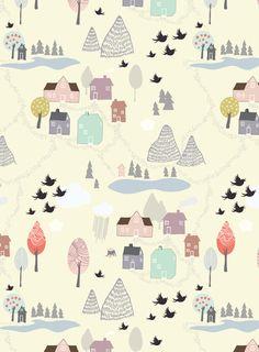 'Den lilla Staden' Art Print by Viola Brun Designs*