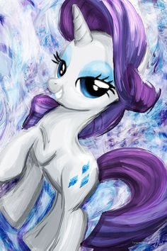 Rarity My Little Pony Friendship is Magic Art Print by TheArtcade