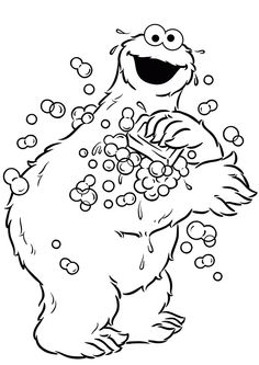 25 Cute Funny Cookie Monster Coloring Pages Your Toddler Will Love