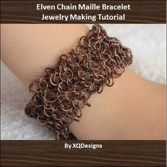 Elven Chain Maille Bracelet Jewelry Making Tutorial T114 - http://www.diybeadingclub.com/amember/aff/go?r=5