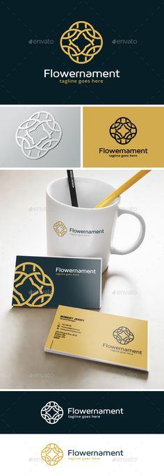 Flower Ornament  Logo Design Template Vector #logotype Download it here: http://graphicriver.net/item/flower-ornament-logo/13740308?s_rank=360?ref=nexion