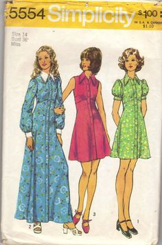 Simplicity 5554 A - Vintage Sewing Patterns