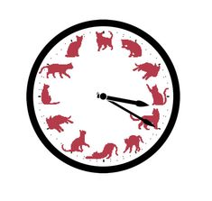 Cat Clock Cross Stitch Pattern, Instant Download, PDF Pattern