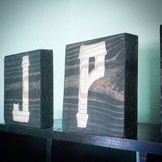 Silhouette Monogram Letter Blocks Rustic Man Cave by ShopAtBear #ShopAtBear #Anchor #Wood #woodworking #nursery #wallart #HomeDecor #home #homemade #madeinamerica #madeintexas #classroom #mancave #initials #dorm