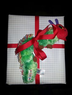 Eric Carle The Very Hungry Caterpillar gift wrap idea....perf for baby shower or children birthday party.... so cute!