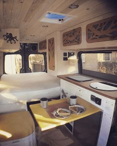 Adorable Wood Interior Ideas For Sprinter Van Camper, Volkswagen campers stick out from the crowd. A Sprinter van camper is readily the most flexible type of Sprinter RV. Our very last RV had one small ba. Van Conversion Interior, Camper Van Conversion Diy, Van Interior, Interior Design, Interior Ideas, Van Conversion With Bathroom, Motorhome, Kombi Home, Sprinter Van Conversion