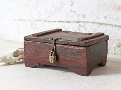 View our Small Memory Box from the collection Repurposed Furniture, Vintage Furniture, Interior Accessories, Wooden Boxes, Storage Solutions, Storage Chest, Decorative Boxes, House, Collection