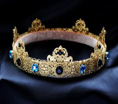 """YOU DESERVE A CROWN!!!!! Customize your own now!!!""""Gold Dolce Male Crown For Royal King Pageant Crowns For Men Medieval Crown, Renaissance Crown, Medieval Jewel"""