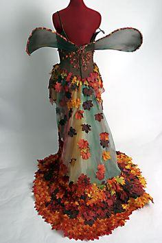Autumn Pixie - Fall-en Fairy Dress - Made to Order. $599.00, via Etsy. ~ Whoa!