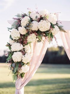 Beautiful hydrangeas: http://www.stylemepretty.com/virginia-weddings/2015/03/18/italian-inspired-wedding-at-the-williamsburg-winery/ | Photography: Michael & Carina - http://www.michaelandcarinaphotography.com/