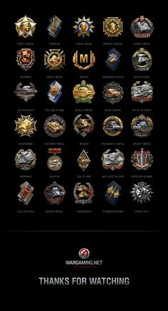 Achievements are awarded to players for exceptional performance in battle. Medals and titles are attached to the player's own statistics as well as individually for tanks and crew members. To see your own achievements, simply go to the statistics in game … Game Ui Design, Badge Design, Icon Design, 90s Design, Logo Design, Game Gui, Game Icon, World Of Tanks, Medan
