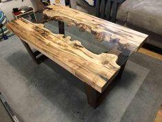 I built a river coffee table - Imgur