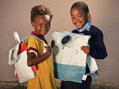 This ingenious schoolbag turns into a solar lantern so kids in areas without electricity can do homework after sundown.
