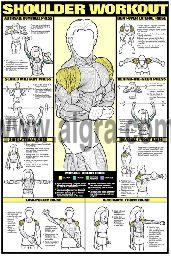 Shoulder Workout Poster