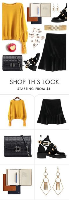 """Rosegal chic style #69"" by wannanna ❤ liked on Polyvore featuring Balenciaga and Mark & Graham"