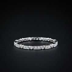 antique milgrain and micro-diamond wedding band