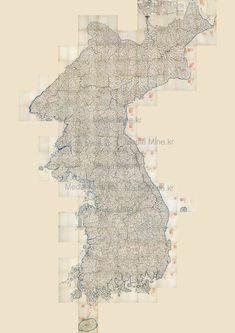 Retro Map of Korea 19th Century  - Fine Art Print(BUY 2 & GET 1 FREE)-18-1 #Handmade #Asian