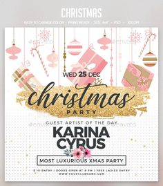 Christmas by studiorgb Christmas Flyer, Christmas Night, Invitation Design, Invitations, Club Parties, Xmas Party, Party Flyer, Party Guests, Print Templates