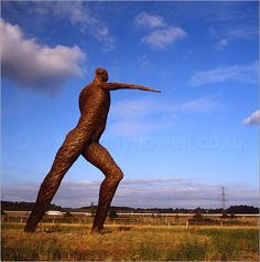 Willow Man, Somerset: Willow Man is a 12m high outdoor sculpture made of woven willow over a steel frame. The figure was created to celebrate the craft tradition of Somerset Levels and, with a 5m arm span, welcomes visitors as they drive into the region along the M5.