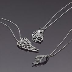 Beautiful and elegant wings in sterling silver - wear the necklaces alone or layer up. #PANDORAmagazine