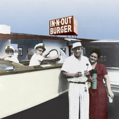 The first In-n-Out Burger restaurant was opened in Baldwin Park, CA in Vintage Pictures, Old Pictures, Pomona California, California History, Southern California, In And Out Burger, Inn N Out, Baldwin Park, West Covina