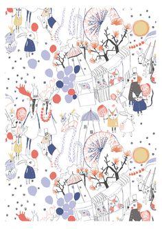 """Poster """"Bland sockervadd och karuseller"""""""
