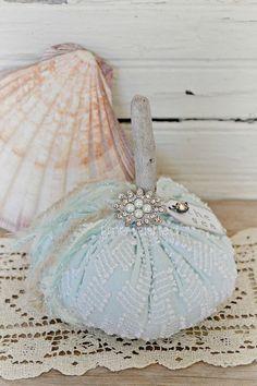 "Chenille Pumpkin-Vintage ""THE SEA"" pumpkin"