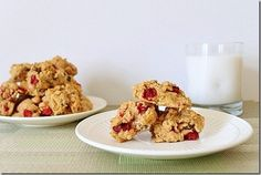 These cranberry chocolate chip cookies are perfect for the holidays with their tart & sweet bite.