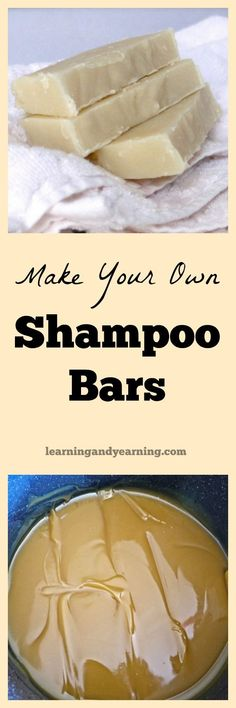 DIY Shampoo Bars If you can make homemade soap, you can make shampoo bars. They are rich and creamy, smell wonderful and they are best for your hair! Diy Shampoo, Homemade Shampoo, Shampoo Bar, Diy Beauté, Diy Crafts, Homemade Beauty Products, Beauty Recipe, Soap Recipes, Handmade Soaps