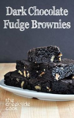 Super fudgey, super rich, super good: Dark Chocolate Fudge Brownies | The Creekside Cook |#brownies #dark chocolate #dessert