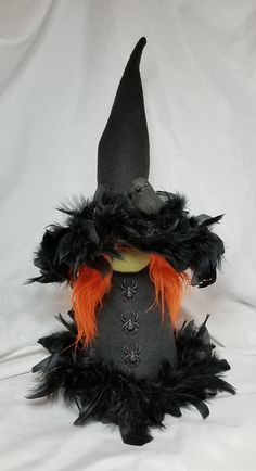 Nordic Gnome 115 Sabine the Witch Halloween Witch Wreath, Halloween Doll, Halloween Ornaments, Halloween Party Decor, Fall Halloween, Halloween Arts And Crafts, Fall Crafts, Gnome Ornaments, Scandinavian Gnomes