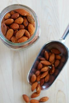 smoky roasted almonds. variations: add pepper and crushed red pepper