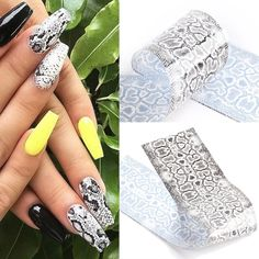 Nail Foil, Nail Effects, Sparkly Nails, Nail Patterns, Nail Sizes, Nail Accessories, Nail Art Stickers, Types Of Nails, Artificial Nails