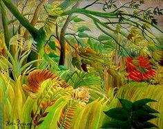 Tiger in a Tropical Storm, Henri Rousseau
