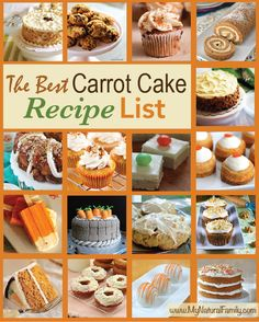 The Best Carrot Cake Recipe List {60 Top Carrot Cake Recipes} - MyNaturalFamily.com #carrot #cake #recipe