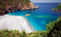 Petali beach in North Evia Greece Places In Greece, Destination Wedding Welcome Bag, Exotic Beaches, Wild Nature, Greece Travel, Wonderful Places, Amazing Places, Greek Islands, Beautiful Beaches