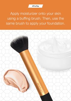 A makeup artist's trick for smooth coverage. #ProTip