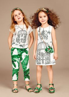 Discover the new Dolce & Gabbana Children Girl Collection for Fall Winter…