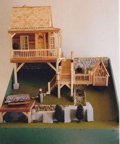"""Fishing Cabin"" Howard Roy, Montrose, CO https://www.facebook.com/DollhouseMiniatures"