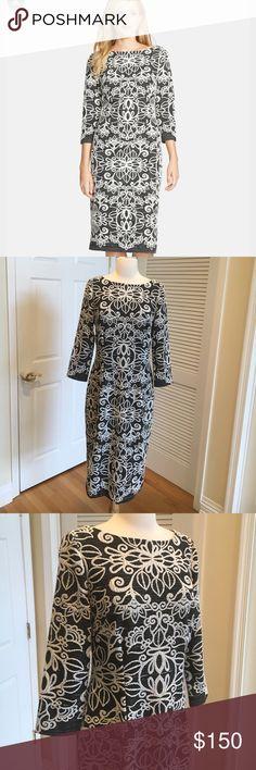 Eliza J Jacquard Sheath dress 💙Excellent condition ! Eliza J Dresses Midi