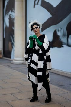 ADVANCED STYLE…Bridget Sojouner  age unknown pinned for her bold, funky style